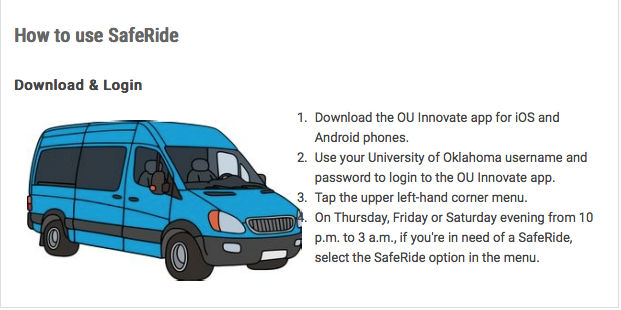 SafeRide at OU